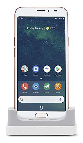 Doro 8080 Smartphone (14,5 cm (5,7 Zoll) 18:9 IPS Touchscreen, 16 MB Kamera, Bluetooth 5.0, Wi-Fi, USB-C) weiß