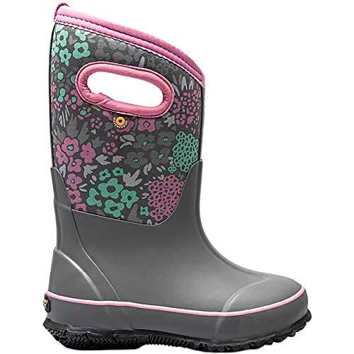 BOGS Classic High Waterproof Insulated Rubber Neoprene Rain Boot, Nw - Dark Gray, 13 US Unisex Little Kid