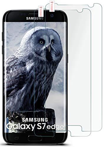 MoEx® HD Panzerglasfolie kompatibel mit Samsung Galaxy S7 Edge   Panzerglas Kratzfest + Fast unsichtbar 9H Glas Schutzfolie, Kristall Klar 2X Stück