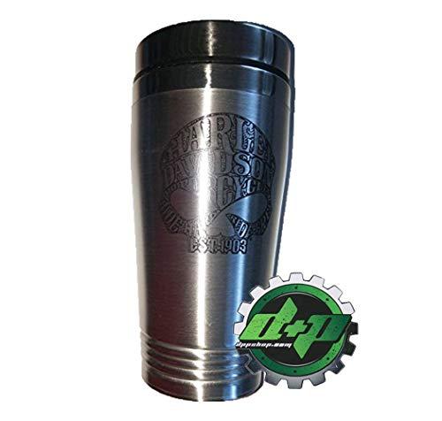 Harley Davidson Willie G Sugar Skull Coffee Mug Cup Stainless Beverage Holder motorcycle drink skull