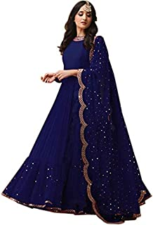 Ethnic Yard Women's Georgette Semi-stitched Salwar Suit