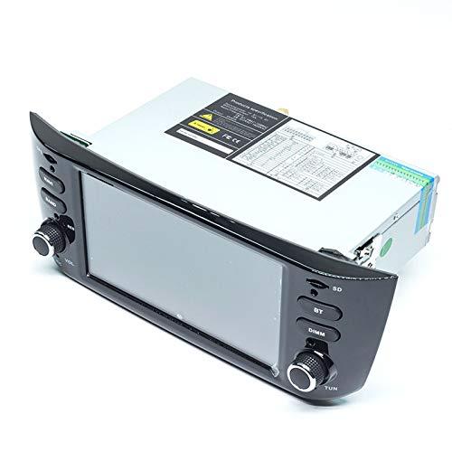 QIQIDIAN 4G 64GB Auto Radio 1 DIN Android 10 Car DVD Reproductor Multimedia Navegación GPS Estéreo IPS DSP Compatible con Fiat/Linea/Punto EVO 2012-2015,64romcarplayobdcam