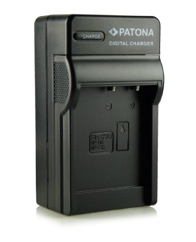 Patona - Cargador tipo NP-130 para cámara de fotos digital Casio Exilim EX-FC300S/EX-H30/EX-H35/EX-ZR100, etc.