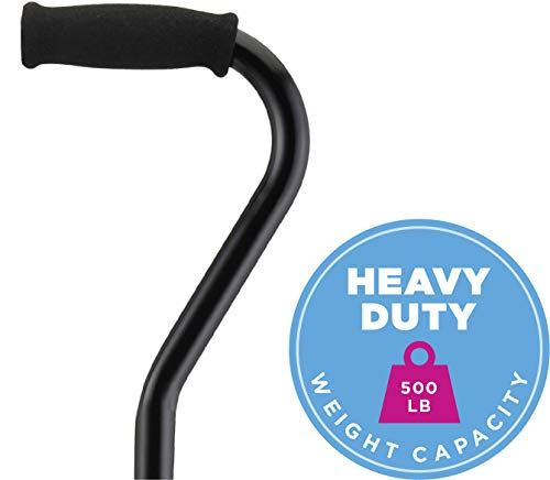 NOVA Medical Products Heavy Duty Quad Cane with Large Base, Black, 4.5 Pound (5710BK)