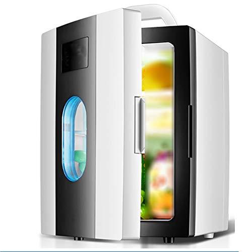 LICIDI Mini Kühlschrank, 8L Tragbarer Mini-Kühlschrank Für Autos Häuser Büros Schlafzimmer Kosmetisches Picknick Obst Bento Joghurt Maske Getränk,Schwarz