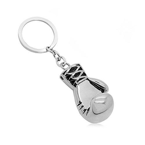 tumundo® Edelstahl Schlüssel-Anhänger Hantel Boxhandschuh Gewicht Fitness Bodybuilding Schlüsselring Autoschlüssel Sport, Variante:Variante 6