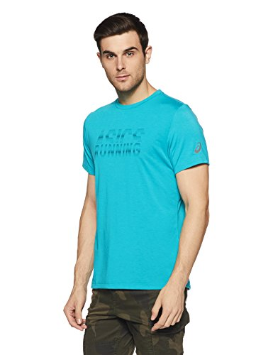 ASICS Graphic SS Top Camiseta, Hombre, Lake Blue, XL