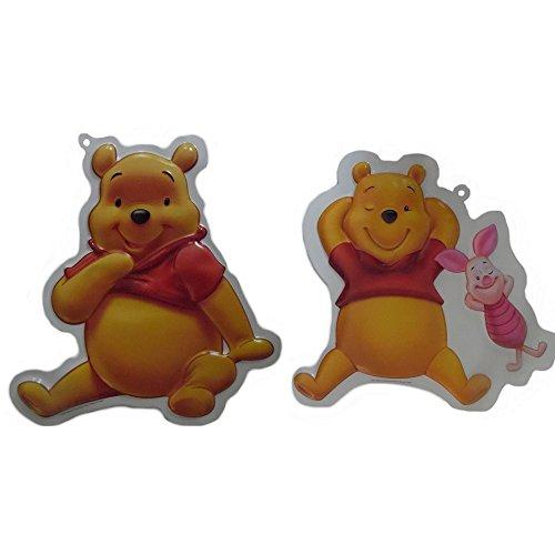 Compatible avec Winnie L'Ourson Porcinet décoration murale 3D Disney enfant, stickers tableau