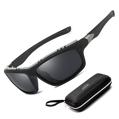 Perfectmiaoxuan Gafas de sol polarizadas para hombre mujer/Golf de pesca fresco Ciclismo El golf Conducción Pescar Alpinismo Deportes al aire libre Gafas de sol (black)