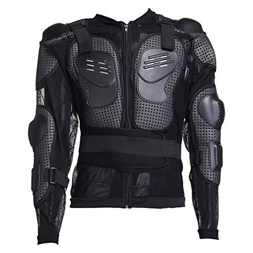 Massage-AED Armadura Moto Hombre,Guardia de Piedra Armadura de Cuerpo Completo para Motocicleta Moto Off Road Unisex Protector de Espalda de Pecho Deportivo