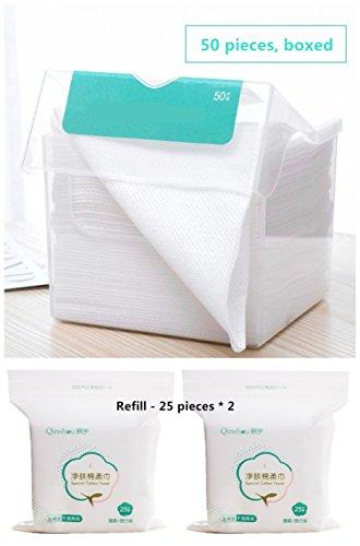 1 caja de 50 piezas toalla desechable para lavar la cara almohadillas de...