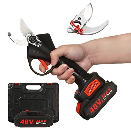 Electric Pruning Shears with Storage Box, Professional Cordless Branch...