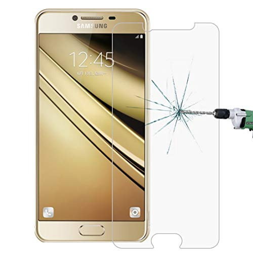 Película de vidrio templado para teléfono móvil For Galaxy C5 / C500 0.26mm 9H Dureza superficial 2.5D película protectora de pantalla de vidrio templado a prueba de explosiones Película de vidrio tem