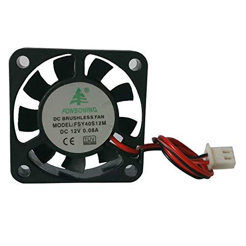 Schrägheck, 4 Stück, 12 V, 0,08 A, DC, leise, mit Kabel, langlebig, praktisch, 3D-Drucker, Mini-Ventilator