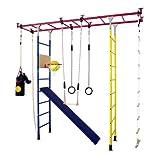 KletterDschungel - das Original - in Kindergartenqualität. Das Indoor Spielhaus als Spielturm und Sprossenwand im Kinderzimmer. Brücke Maxi (für Raumhöhen von 240-300 cm)