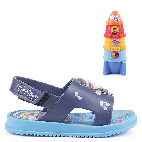 Chinelo Grendene Mundo Bita Descobertas Baby Meninos S: Azul/G: Azul 19