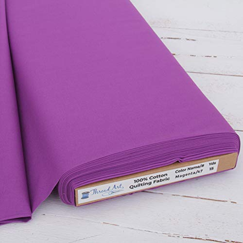 ThreadArt Premium Cotton Quilting Fabric Sold By The Yard - Magenta - 44' Width - 100% Cotton - Quilting, Sewing, Crafts
