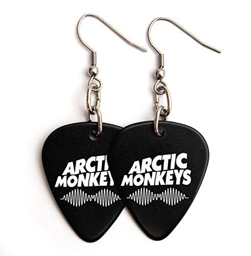 Arctic Monkeys Guitar pick plectrum logo Earrings (BW)