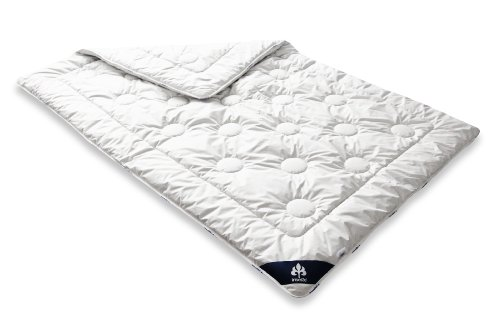 piumone singolo leggero in lana washed colore: Bianco Badenia Bettcomfort Irisette Merino 135 x 200 cm