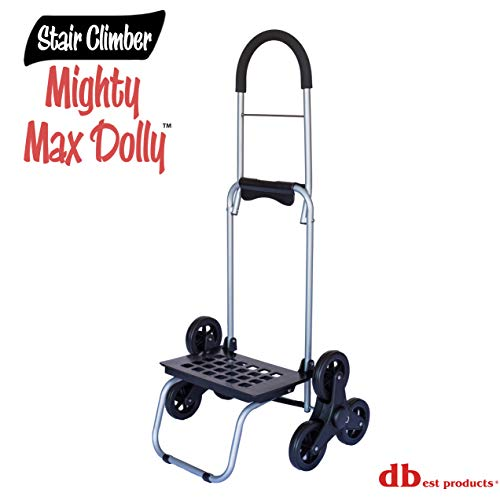 DBest Productos 01 – 508 – Dolly Mighty Max para subir por escaleras, color café, Negro, 1, 1