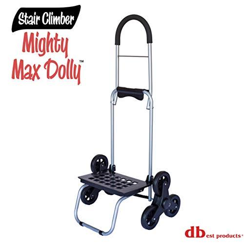 DBest Productos 01–508–Dolly Mighty Max para subir por escaleras, color café, Negro, 1, 1