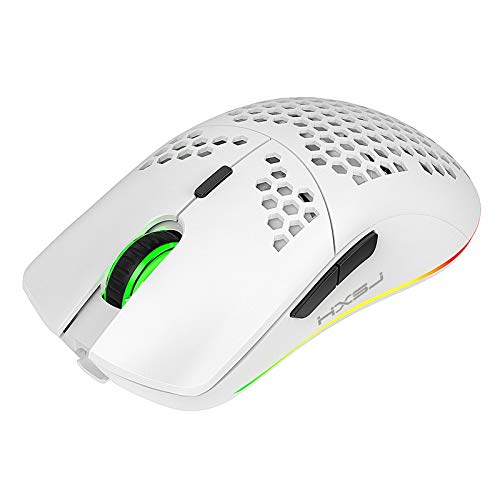 Ydh T66 Honeycomb Lightweight RGB Backlit 2.4GHz Ratón inalámbrico para el hogar USB USB Recargable Cuaderno Mídicos de Escritorio Ratones Baratos Gaming Mouse