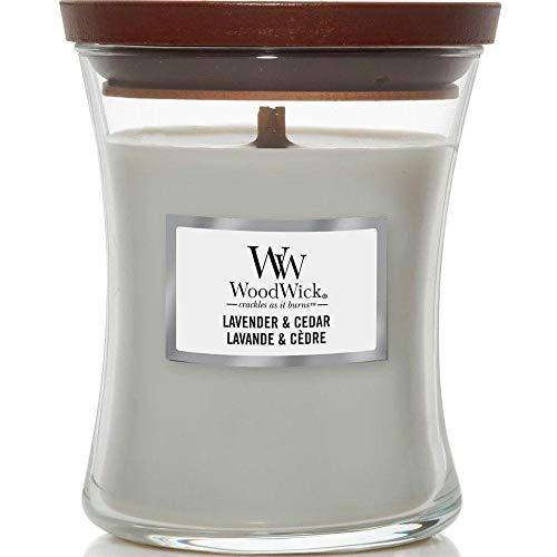 WoodWick 1666278E Lavender & Cedar Scented Candle, Lavender, Mini