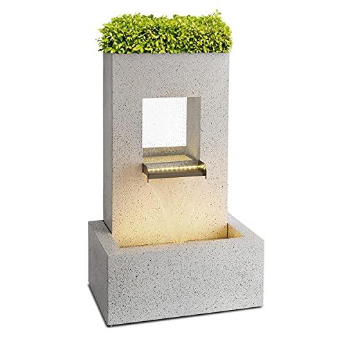 blumfeldt Bloomingstone - Fuente Decorativa, Maceta en Parte Superior, para Interiores y Exteriores,...