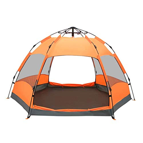 Automatic Pop Up Camping Tent Large 5-8 Person Waterproof Sunscreen 4 Season Hexagonal Tent
