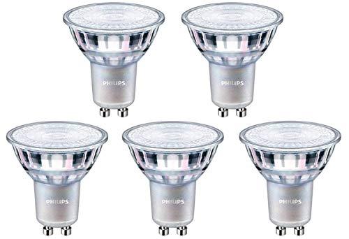 Philips Master LED GU10 Spot, weiß, 7 W LED, entspricht 80 W, dimmbar, 5 Stück