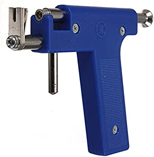Piercing Gun Tool - TOOGOO(R) Pro Steel Ear Nose Navel Body Piercing Gun Tool Kit 98pcs Instrument Studs Set Blue