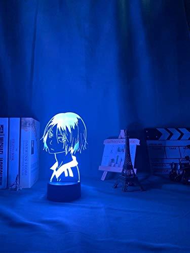 Lámpara 3d Lámpara 3D, luz nocturna, luz de noche LED Luz de anime Kozume Kenma Lámpara para decoración de dormitorio Niños Niños Niños Regalo de cumpleaños Haikyuu Kenma Light, 7 colores Sin control