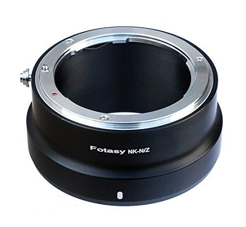 Fotasy Nikon F Mount Lens to Nikon Z50 Z6 Z7 Camera Adapter, Nikon FTZ Mount Adapter, Nikon F Z Adapter, Nikon Z Adapter F Mount, fits Nikon F Mount Lens & Nikon Z Mount Mirrorless Camera Z50 Z6 Z7