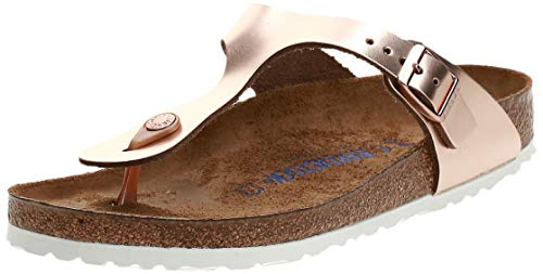 BIRKENSTOCK Damen Gizeh 1005048 Zehentrenner, Pink (Metallic Copper Metallic Copper), 41 EU