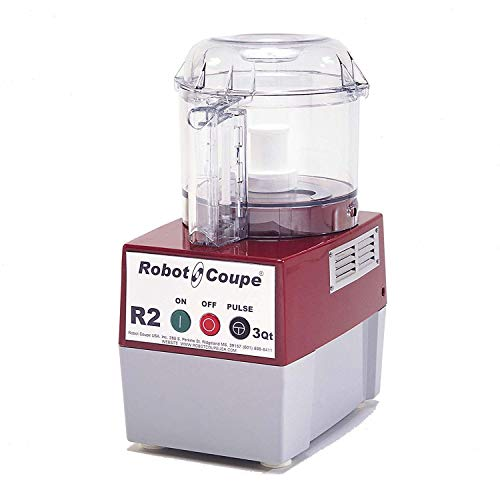 Robot Coupe R2B CLR Commercial Cutter Mixer with 3-Quart Clear Polycarbonate Bowl, 1-HP, 120-Volts