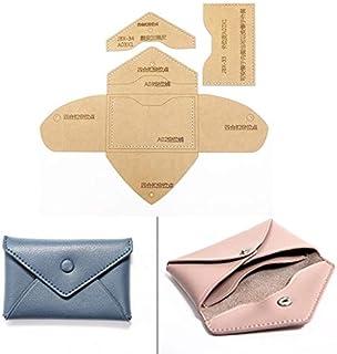 Wang shufang 1PACK Bricolage Porte-Monnaie Sac Carte en Cuir Patron de Couture Papier Kraft Dur 110x70mm Stencil modèle