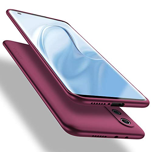 X-level Funda para Xiaomi Mi 10, Carcasa para Xiaomi Mi 10 Suave TPU Gel Silicona Ultra Fina Anti-Arañazos y Protección a Bordes Funda Phone Case para Xiaomi Mi 10 - Vino Rojo