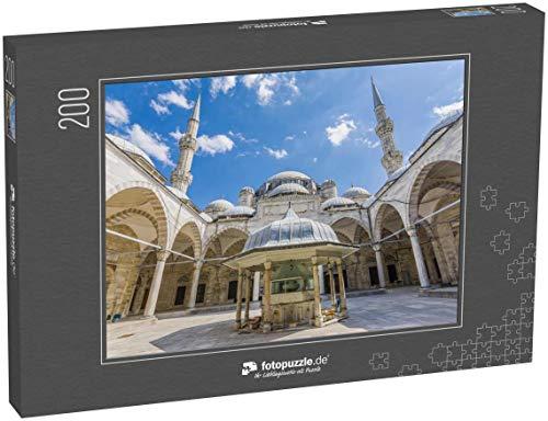fotopuzzle.de Puzzle 200 Teile Blick auf den Garten der Sehzade-Moschee in Istanbul. Istanbul ist EIN beliebtes Reiseziel in der Türkei