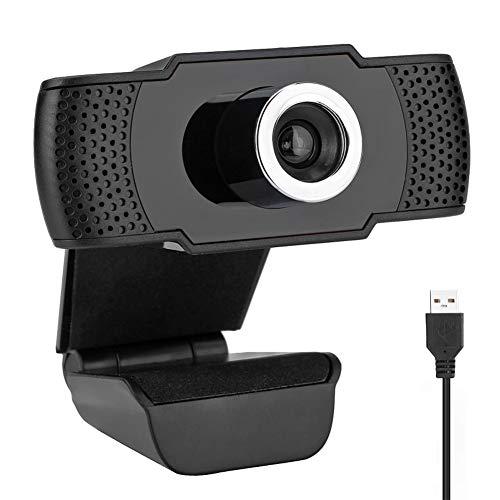 Aode Cámara web de PC con micrófono 1080P Full HD Webcam para PC Plug and Play Cámara USB sin unidad para ordenadores portátiles de escritorio para YouTube Compatible con Windows 7/8/10/XP