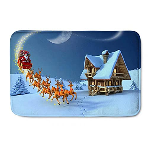 N/A Door Mat Grey Rug Bath Mat Area Rugs Christmas Doormats Santa Cute Snowman Doormats For Indoors Indoor   Mats For Front Door Bedroom Home Room Decor 20'x32'