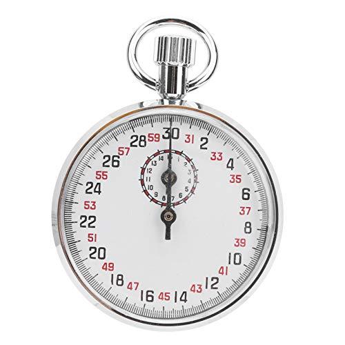 Cronómetro digital Temporizador Cronómetro portátil Esfera redonda Cronógrafo deportivo Temporizador de funcionamiento, manecilla de minutos 15 minutos / círculo, segunda manecilla 30 segundos / círcu