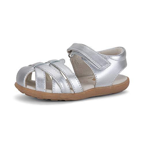 See Kai Run Girls' Camila II Sandal, Silver, 12 M US Little Kid