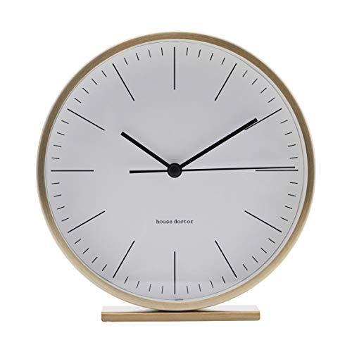 House Doctor Reloj de Mesa Hannah, Dorado, 15 x 15 cm