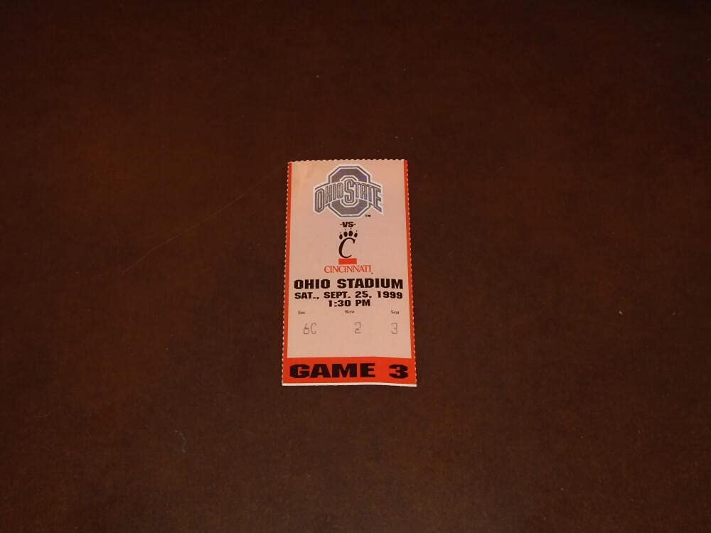1999 CINCINNATI AT outlet OHIO STATE FOOTBALL TICKET STUB Limited time trial price
