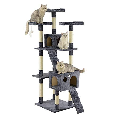 Go Pet Club 72' Cat Tree Condo Furniture - Gray
