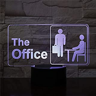 Lampara LED The Office Cambia Color USB Luz Nocturna