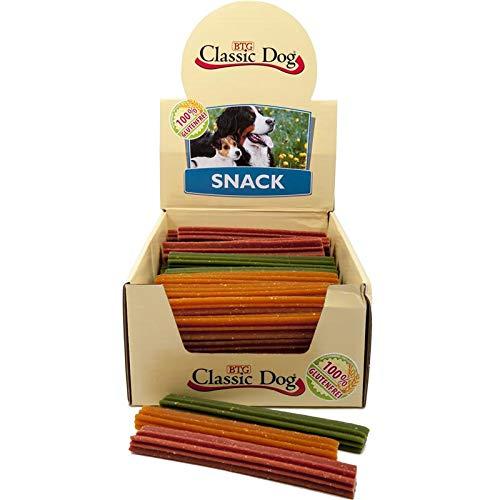 Classic Classic Dog Snack Kaustange glutenfrei Medium 17cm in orange, rot oder grün