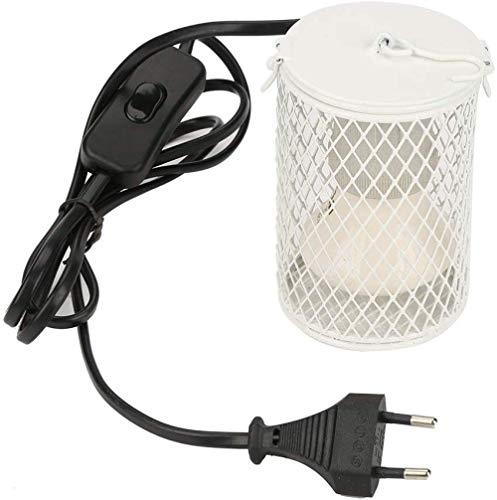 UMNALNI3 100 Watt Wärme Licht Keramik Emitter Brooder Coop Reptil Haustier Infrarotlampe Lampe für Eidechsen Schildkröte Huhn Amphibiengeflügel-Weiß