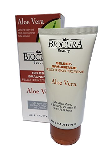 Biocura Beauty Aloe Vera - Selbstbräunende Feuchtigkeitscreme - 50 mL