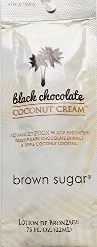 Lot Of 5 Black Chocolate Coconut Cream Tanning Lotion Packets by TAN